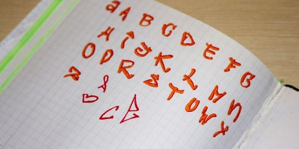 Próba tworzenia swojego alfabetu