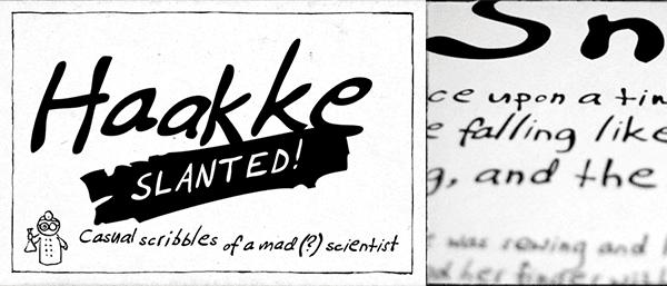 Haakke_Slanted_czcionka